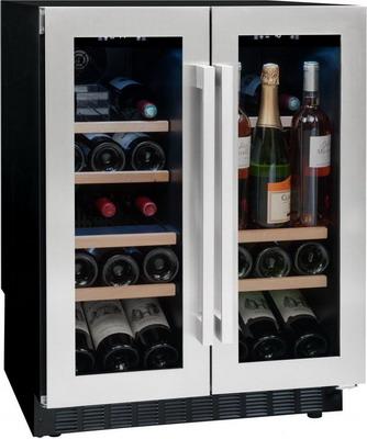 Винный шкаф Climadiff Avintage AVU 41 SXDPA чёрный с серебристой рамкой цена