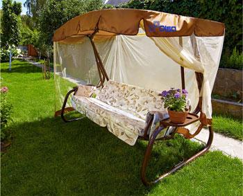 Качели садовые Olsa ''Турин'' мебельная ткань с677 цена