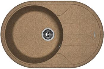 Кухонная мойка Florentina Лотос 780 780х510 коричневый FG искусственный камень