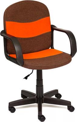 Офисное кресло Tetchair BAGGI (ткань коричневый/оранжевый 3М7-147/С23) кресло tetchair step ткань серый оранжевый с27 с23