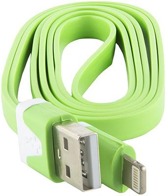 Кабель Red Line Плоский USB-8-pin для Apple зеленый apple ma591zm c кабель apple 30 pin на usb 0 5 м white