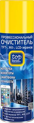 Профессиональный очиститель TOP HOUSE 392333 TFT- ЖК- LCD- экранов 200 мл (аэрозоль)