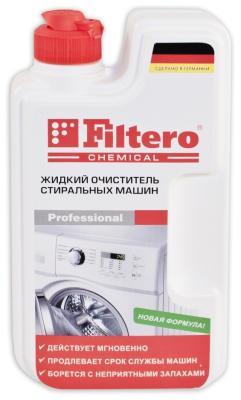 Жидкий очиститель стиральных машин Filtero Арт.902 очиститель от накипи filtero арт 902 1шт 250мл для стиральных машин