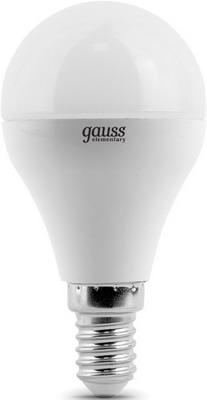 Лампа GAUSS LED Elementary Globe 6W E 14 4100 K 53126 лампа gauss led elementary globe 6w e 27 2700 k 53216