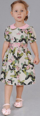 Платье Fleur de Vie Арт. 14-7840 рост 104 бежевый фото