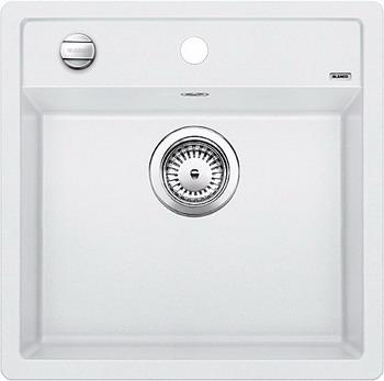 Кухонная мойка BLANCO DALAGO 5-F SILGRANIT белый с клапаном-автоматом кухонная мойка blanco dalago 5 f silgranit кофе с клапаном автоматом