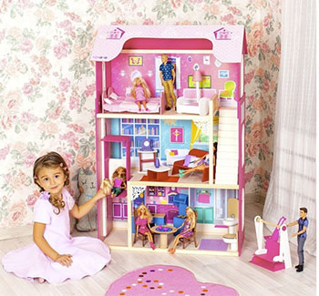 цены Кукольный дом Paremo PD 315-01 Кукольный дом для куклы Муза с 16 предметами мебели качелями и лифтом