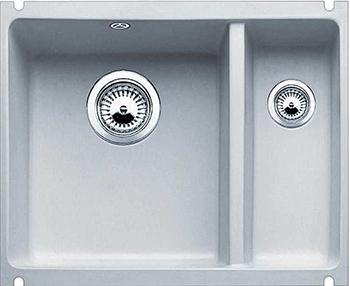 Кухонная мойка Blanco 523745 SUBLINE 350/150-U керамика серый алюминий PuraPlus с отв.арм. InFino blanco subline 350 150 u серый алюминий