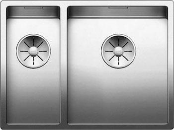 Кухонная мойка BLANCO CLARON 340/180-IF (чаша слева) нерж. сталь зеркальная полировка 521607 тройник 90° 0 8x120 мм зеркальная нержавеющая сталь