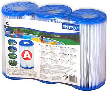 Картридж Intex ''А'' (Блок из 3 шт) для фильтр-насосов 29003