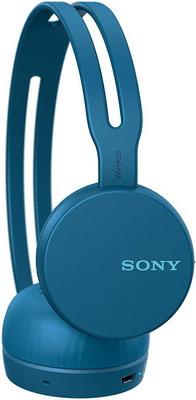 Накладные наушники Sony WH-CH 400/LZ синие цена и фото