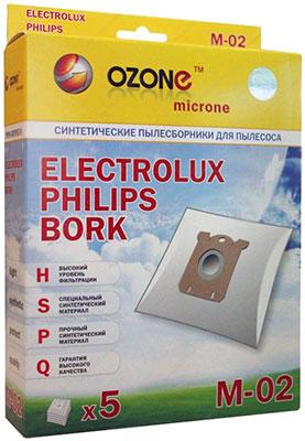Набор пылесборников Ozone M-02 синтетические для пылесоса 5 шт