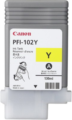 Фото - Картридж Canon PFI-102 Y 0898 B 001 Желтый тонер картридж canon pgi 2400 xl y 9276 b 001 желтый