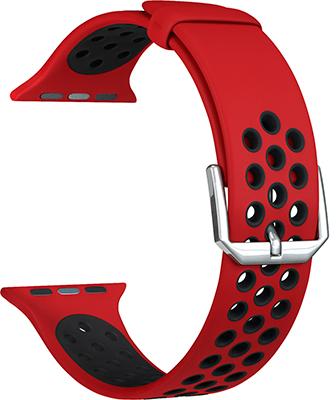 ремешок sport band для смарт часов apple watch 38 40 мм черный с белым Ремешок для часов Lyambda для Apple Watch 38/40 mm ALIOTH DS-APS01-21-40-RB Red/Black