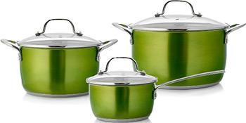 Набор посуды Esprado Emerald 6 пр. нерж. сталь