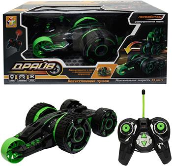 Машинка 1 Toy Драйв зеленый Т10953 каталка машинка r toys bentley пластик от 1 года музыкальная красный 326