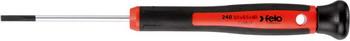 Отвертка Felo шлицевая плоская для точных работ 2 5X0 4X60 24025250 отвертка felo шлицевая плоская для точных работ 2 5x0 4x60 24025250