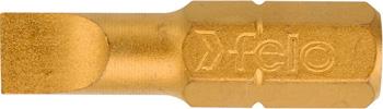Бита плоская Felo шлицевая серия TiN 6 5X1 2X25 02061070 цена и фото