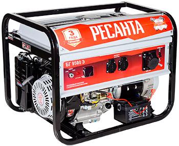 Электрический генератор и электростанция Ресанта БГ 9500 Э