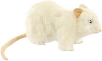 Мягкая игрушка Hansa Creation 7529 Крыса белая 19 см мягкая игрушка сова hansa сова белая искусственный мех синтепон белый 18 см 6155