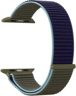 Ремешок для часов Lyambda Apple Watch 42/44 mm VEGA DS-GN-02-44-46 Khaki-blue