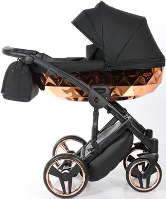 коляски 2 в 1 Коляска детская 2 в 1 Junama MIRROR JDMI-01 (черный/короб медь)