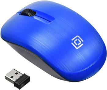 Беспроводная мышь Oklick 525MW синий оптическая (1000dpi) беспроводная USB (2but) мышь microsoft bluetooth черный оптическая 1000dpi беспроводная bt 2but