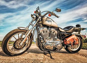 Алмазная мозаика Цветной Harley-Davidson Sportster (40х50) на подрамнике lg226