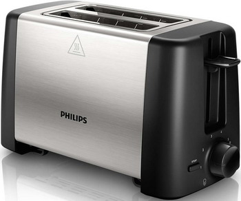 цена на Тостер Philips HD 4825/90 Daily Collection черный/сталь