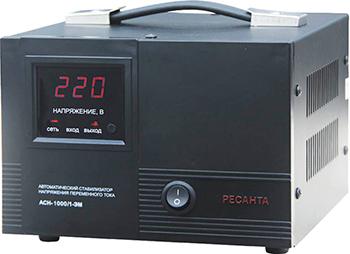 Стабилизатор напряжения Ресанта ACH - 1 000/1 - ЭМ стабилизатор ресанта ach 500 н 1ц