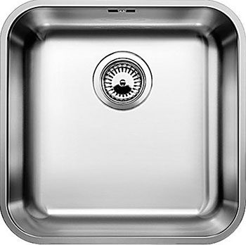 Кухонная мойка BLANCO SUPRA 400-U нерж.сталь полированная с клапаном-автоматом