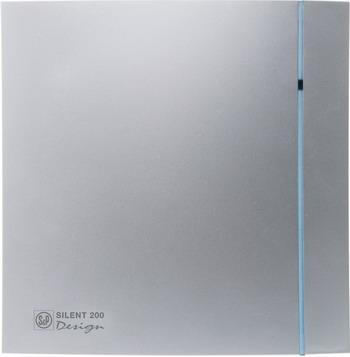 Вытяжной вентилятор Soler & Palau SILENT-200 CRZ DESIGN-3C (серебро) 03-0103-132