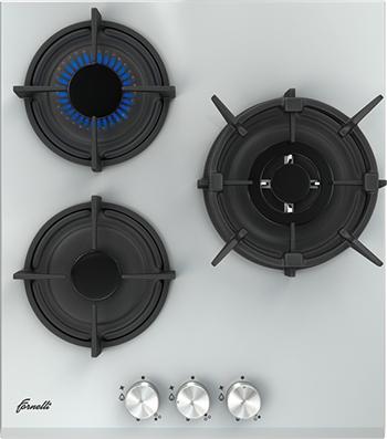 Встраиваемая газовая варочная панель FORNELLI PGA 45 FIERO WH варочная панель газовая fornelli pga 45 fiero wh белый