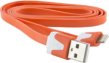 Фото - Кабель Red Line Плоский USB-8-pin для Apple оранжевый аксессуар чехол аккумулятор red line для apple iphone 6 6s 7 power case 6000 mah gold ут000010676