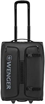 Сумка на колесах Wenger черная полиэстер 23x38x54 см 53 л 610173 сумка wenger 606462 черный