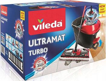 Набор для уборки Vileda Ультрамат Турбо в коробке (швабра с телескопической ручкой ведро с педальным отжимом) 158632