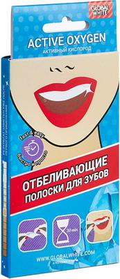 Полоски для отбеливания зубов Global White teeth whitening strips ''2 САШЕ''