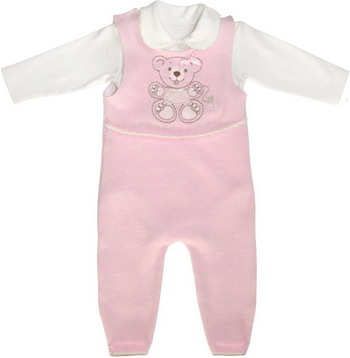 Комплект одежды Лео Мишка рост 74 розовый