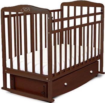 Детская кроватка Sweet Baby Luciano Wenge (Венге) 382 040 кроватка детская sweet baby lucia цвет венге