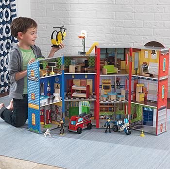 Игровой набор для мальчиков KidKraft ''Здание спасательной службы'' 63239_KE игровой набор big motors мой город для мальчиков