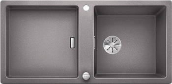 Кухонная мойка Blanco ADON XL 6S SILGRANIT алюметаллик с кл.-авт. InFino 523606