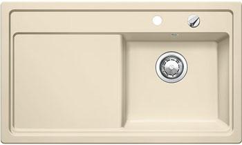 Кухонная мойка Blanco ZENAR 45 S (чаша справа) жасмин с кл.-авт. InFino blanco zenar 45 s кофе с клапаном автоматом чаша слева
