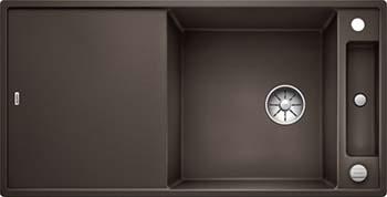 Кухонная мойка BLANCO AXIA III XL 6 S-F InFino Silgranit кофе ( доска ясень) 523525 кухонная мойка blanco axia iii xl 6 s f infino silgranit алюметаллик доска стекло 523528
