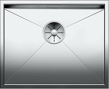 Кухонная мойка BLANCO ZEROX 500-IF нерж. сталь зеркальная полировка 521588 тройник 90° 0 8x120 мм зеркальная нержавеющая сталь