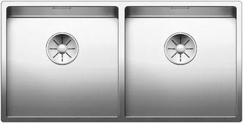 Кухонная мойка BLANCO CLARON 400/400-IF нерж. сталь зеркальная полировка 521617 blanco linee s нерж сталь зеркальная полировка