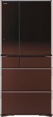лучшая цена Многокамерный холодильник Hitachi R-G 690 GU XT коричневый кристалл