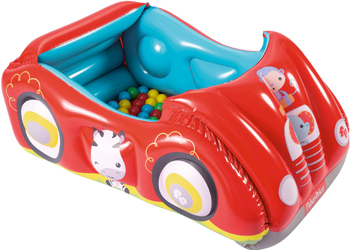 цена Игровой центр BestWay Машина с 25 шариками Fisher Price 119 х 79 х 51 см 93520 BW онлайн в 2017 году
