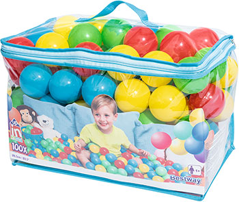 Мячи для игр пластмассовые BestWay 6 5 см 100 шт. 52027 BW