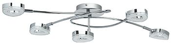 Люстра потолочная DeMarkt Этингер 704011305 5*4W LED 220 V demarkt потолочный спот demarkt этингер 704011305