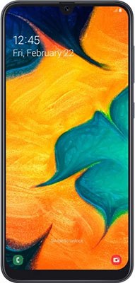Смартфон Samsung Galaxy A30 SM-A305F 64Gb черный смартфон samsung galaxy a30 sm a305f 64gb белый